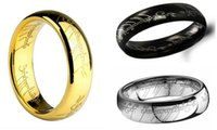 lord of the rings ring tungsten - 2016 Midi Ring Tungsten One Ring of Power The Lord of Ring Lovers Gold Plated k Tungsten Carbide Unisex Laser etched Wedding Ring
