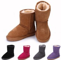 australia cottons - 2016 dorp shipping Australia brand Snow boots boy girl real cowhide boots waterp roof warm children s boots Fashionable boots for Kids