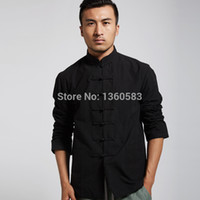 Wholesale White Classic Chinese Style Cotton kung fu shirt Martial arts Wushu tops S M L XL XXL XL