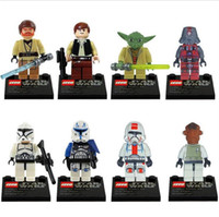 Wholesale 32pcs Star Wars Minifigure Styles Star Wars Action Figures Yoda Han Solo Obi Building Blocks Sets Minifigure Model DIY Bricks