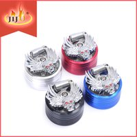 aluminum push button - Hot Sale Best Disign Grinder High Quality Aluminum Alloy Handle Grinder two tiers with push button