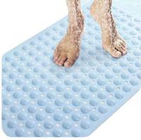 Wholesale PVC massage skid bath mat with suction cups quot Wx29 quot L x74cm