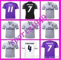 Wholesale rugby Real Madrid Jerseys Shirt Benzema James Bale Ronaldo Wholesalers Spanish league Sportswear