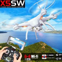 Wholesale New SYMA X5SW WIFI RC Drone FPV Quadcopter with MP HD Camera G Axis Real Time RC Helicopter Toys