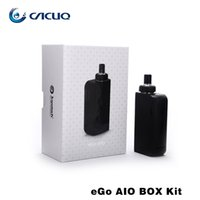 Cheap Authentic Joyetech Ego Aio Box Kit e cigarette with 2100mah Vape Mod 2ml Vaporizer All-In-One Kit Electronic Cigarette fit BF SS316-0.6ohm