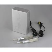 Wholesale Super Bright H1 LED R3 W LM Universal Car Headlight Bulb Conversion Kit k Silver color V V Bulbs