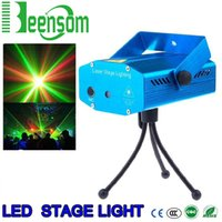Wholesale Mini Led Stage Light Laser Lamps AC V V two Colors For KTV Light Music Party Lamp Lighting Projector And Remote Disco Club