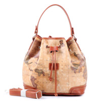 Wholesale 2016 stars war message fashion high quality woman handbag shoulder bag messenger bag crossbody Barrel shaped world map in PVC