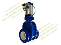 Wholesale pneumatic oeprated ceramic double disc knife gate valve