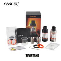 metal box - 100 Original SMOK TFV4 TFV8 Tank Full Kit ml Top Refill Adjustable airflow Sub Ohm Tank For thread Box Mod