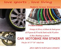 best motorcycle windshield - 10 Colors Stripes quot quot Wheel Rim Decal Sticker for Car Motorcycle Best Car Styling Strong blister pack Shipping