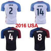 america national - 16 National team Jersey for USA USA Copa America Home Away shirt Thailand Quality DEMPSEY YEDLIN home away Jerseys