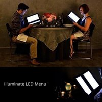 Wholesale LED Menu Illuminate LED Drink List Bar KTV Night Club Rechargeable Leather A4 Free DHL Shipping