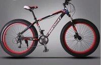 bike mountain - Wide tires mountain bike aluminum alloy speed oil disc snow car beach vehicle off road mountain bike