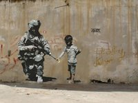 american landscape artists - 24X36 INCH ART SILK POSTER Banksy Peace Art Graffiti Artist Silk Poster