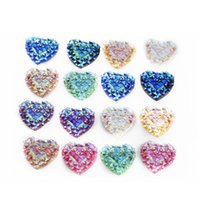 acrylic embellishment - 40 mm Heart Flatback Scrapbooking Embellishments For Phone Wedding Craft Fashion DIY Jewelry Making Findings