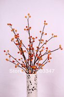 berry spray - New Arrival Artificial Berry Spray in Red Orange Floral Stems For Flower Arrangement