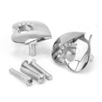Wholesale 2x Silver Tone Drawer Cabinet Wardrobe Zinc Alloy Rhinestone Decor Heart Handle