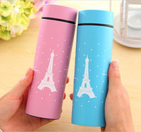 Wholesale Fashion Colors Eiffel tower stainless steel vacuum flask Thermos cup thermo mug ml thermos flask Thermocup pc