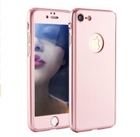 armor glass film - 360 Degrees Full Body Shockproof Hybrid Defender Armor Cover For iphone7 iphone7 Plus Cases Free Tempered Glass Film