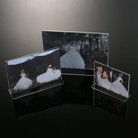 Wholesale 2016 New High Quality Plexiglass Clear Acrylic Photo Frames Home Use Size A4 Frame For Photo Display