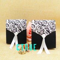 baby shower stamps - 30pcs Wedding baby shower Candy Boxes Wedding Favor Box chocolate Gift paper printed flower packing boxes
