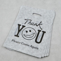 apparel handle - 100pcs cm PE Thanksgiving Smile gifts plastic Packaging bags Clothing and Apparel Hand Length Handle packing Bag B111