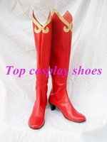 Gros-Phoenix Wright: <b>Ace Attorney</b> Chaussures Regina Berry Cosplay Bottes Custom-Made # Noël NC088 Halloween chaussures festival bottes