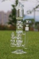 best booster - Rocket Booster Water pipe tall quot Triple Guided Missile perc Amazed filtration glass bongs best smoking bubbler