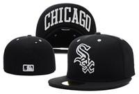 al por mayor moda sombreros de copa baratas-estilo de la manera de calidad superior Chicago White Sox viejo estilo del diseño de los sombreros de béisbol armarios barato alas planas deporte precio al por mayor tapas cerradas