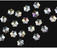 Wholesale Coating AB color mm Crystal Snowflake Beads holes for home decoration Crystal curtain beads