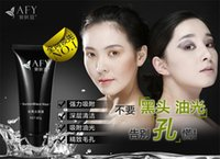Wholesale Hot Sale AFY Suction Black Mask Deep Cleansing Face Mask Tearing Style Resist Oily Skin Strawberry Nose Acne Remover Black Mud Masks Peels