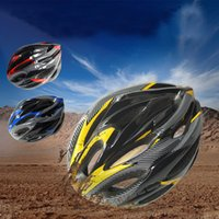 Wholesale Imitating Integral Forming Carbon Fiber Helmets Cycling Riding Safety Helmet Inbike Sun Shading Cap For Bicycle