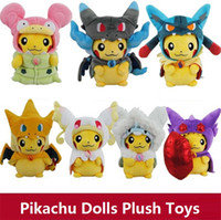 beast plush doll - New poke toys MEGA Charizard X Y gawk beast coat cloak Pikachu plush dolls cartoon toys