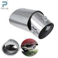 auto exhaust muffler - Universal Car Exhaust Pipe Stainless Steel Chrome Round Tail Muffler Tip Single Silencer Auto Accessories Decoration