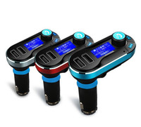 Wholesale High quality Bluetooth Car FM transmitter A Dual USB Car Charger BT66 MP3 Player Car Kit for Mobile phone