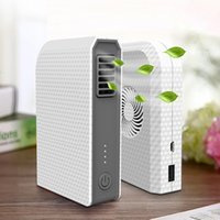 battery powered mini fan - Mini in Portable USB Power bank mAh with Bladeless Fan Outdoor Mobile battery backup charging Summer cooling fan for mobile phones