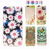 Wholesale IPhone6 phone shell creative relief TPU soft shell thin transparent apple splus protective sleeve