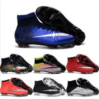 Wholesale Cheap Soccer Shoes Mercurial Superfly FG Men High Quality ACC CR7 Football Shoes For Sale Cleats Cheap Sports Boots Size