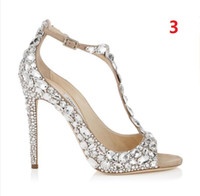 Cheap hot sell!2016 Luxury Brand Woman's Favorite Shoes High Heels Sexy Pointed Toe Rhinestone Stiletto Heels Slip-on Glitter Wedding Shoes