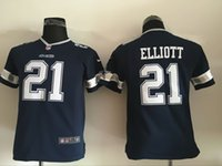 cowboys jerseys - 21 Ezekiel Elliott Draft Pick Youth Cowboys Kids Jerseys Navy Blue Game Football Jerseys Mix Order