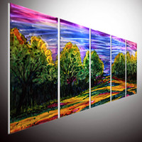Wholesale Modern contemporary abstract painting abstract wall art Modern abstract wall art home decor metal wall art oil painting wall art