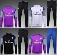 Wholesale 2017 survetement football real madrid soccer jackets bale ronaldo training sweatshirts tracksuits jogging set