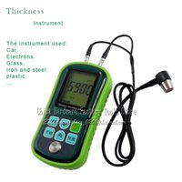 Wholesale FREIES verschiffen DIGITAL ULTRASCHALLDICKENMESSER LCD Tester Messgerät Metall Testering Breite Messgeräte
