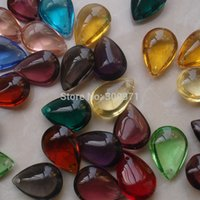 Wholesale colors mixed x22mm crystal small beads water drop tear oval pendant