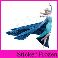 Wholesale ZY1418 Frozen Movie Wall Stickers Elsa Romance zooyoo children s room nursery removable wall stickers hot sales