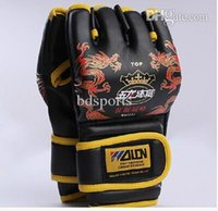 Wholesale Half Finger MMA Boxing Gloves Sanda Fighting Sandbag fitness Gloves dragon print