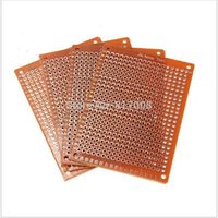 Wholesale 10pcs DIY Prototype Paper PCB Universal Experiment Matrix Circuit Board x7cm Empty Plate Experiment Breadboard Pegboard