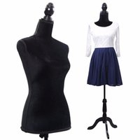 Wholesale Black Female Mannequin Torso Dress Form Display W Black Tripod Stand New HW50080BK