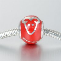 aries pendant - GW Aries Charms beads made from sterling silver fit pandora style bracelets for women zodiac No70 lw D148A